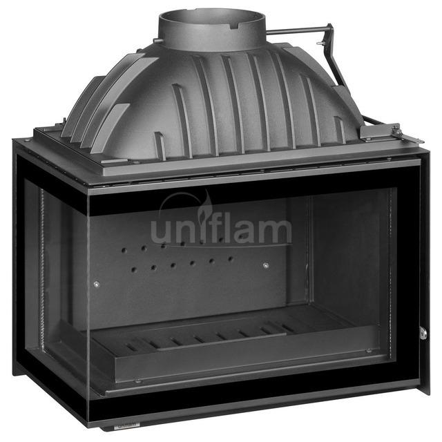 Каминная топка Uniflam 700 Plus Eco с шибером левое стекло (ref. 6263-73). Фото 2