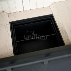 Каминная топка Uniflam 860 EVO PBS гнутое стекло (ref. 260-182-GS). Фото 5